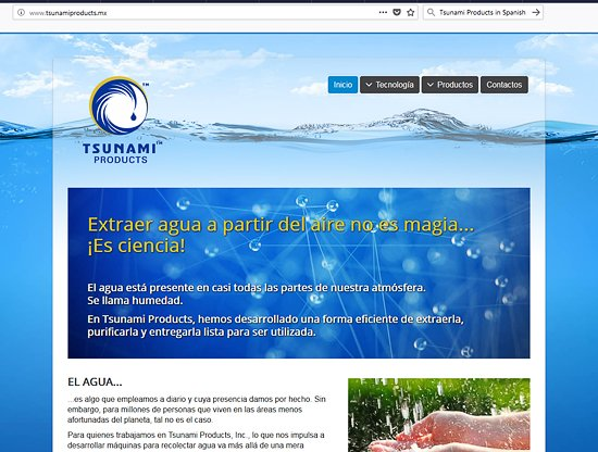 Test results: Tsunami atmospheric water is safe to drink